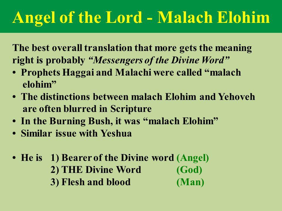 Angel of the Lord - Malach Elohim