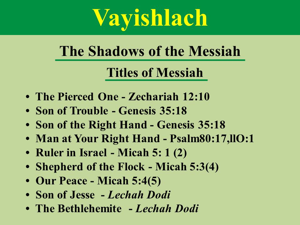 The Shadows of the Messiah