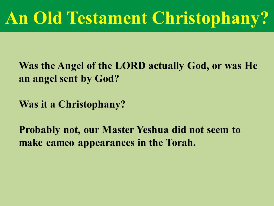 An Old Testament Christophany