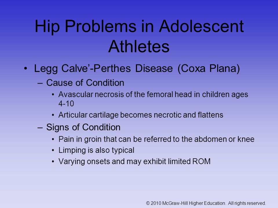 Hip Problems in Adolescent Athletes