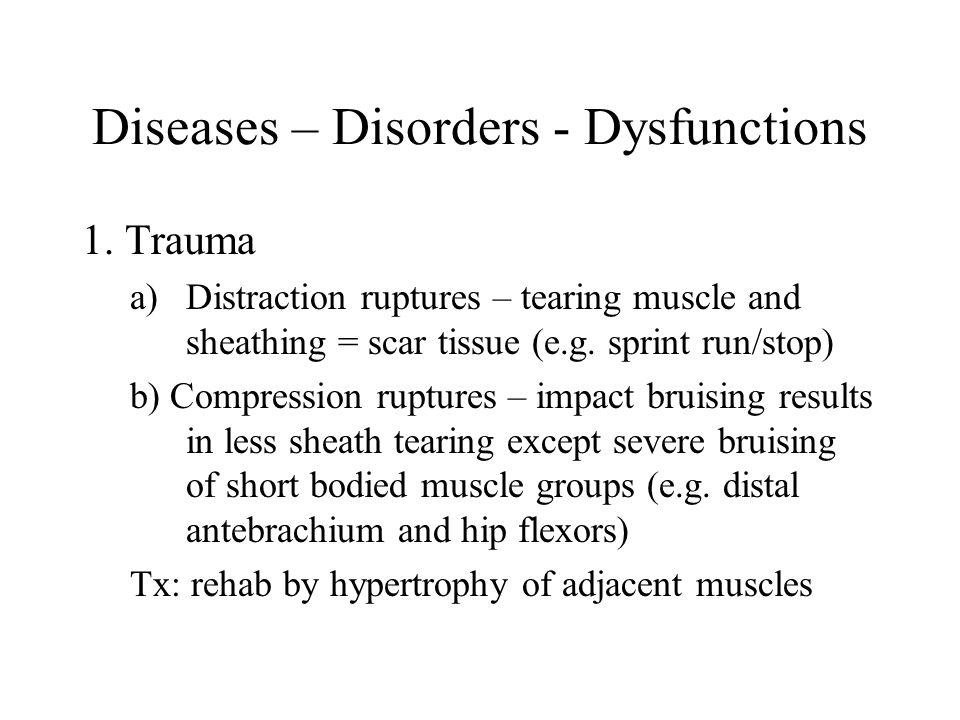 Diseases – Disorders - Dysfunctions