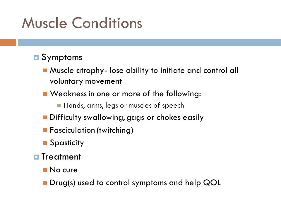 Muscle Conditions Symptoms Treatment