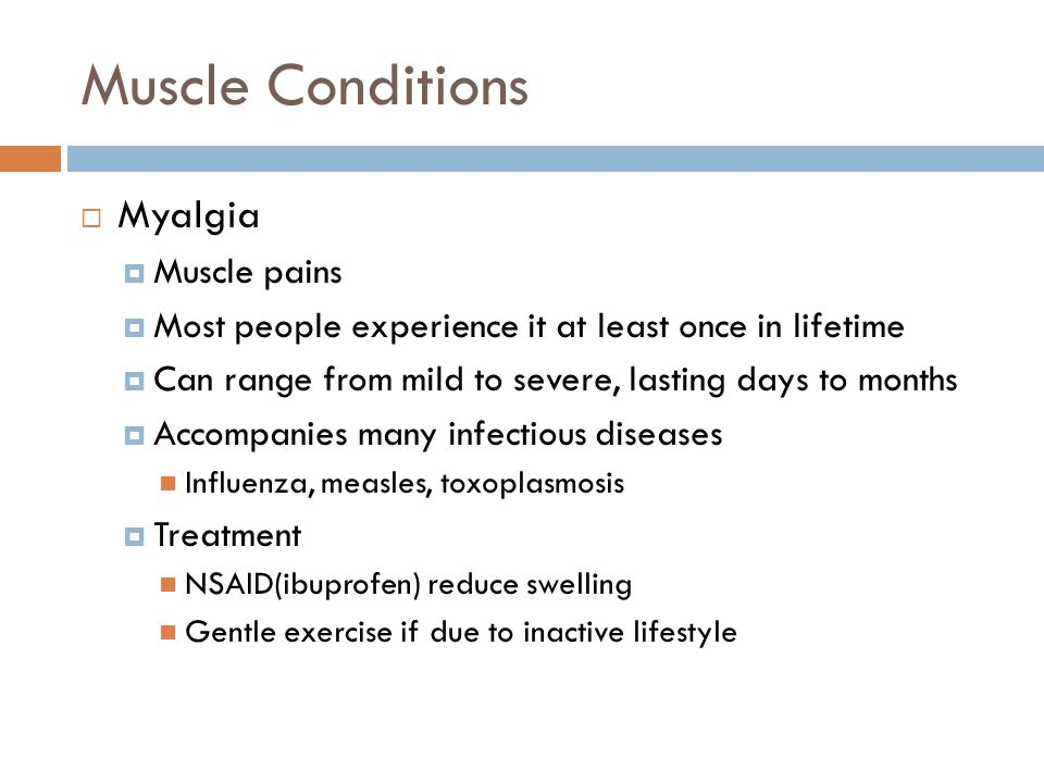 Muscle Conditions Myalgia Muscle pains
