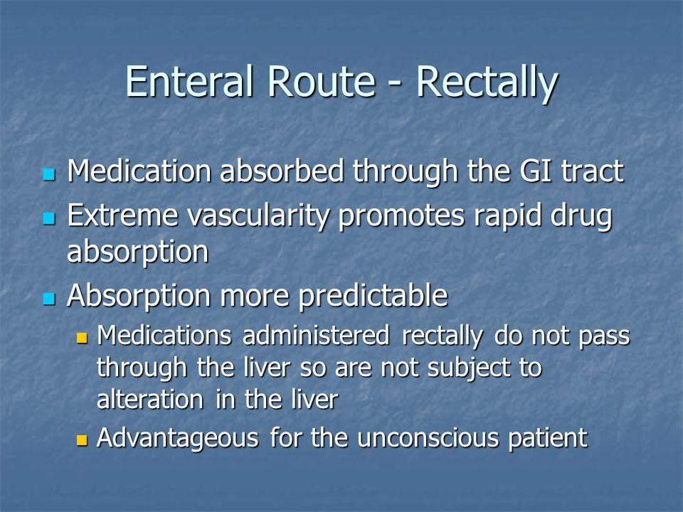 Enteral Route - Rectally