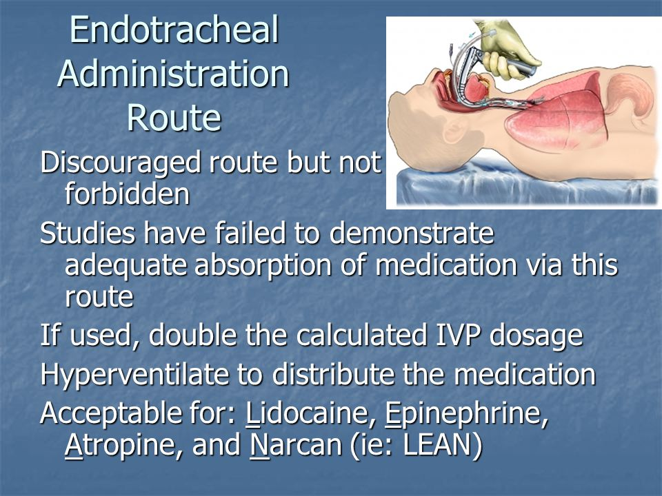 Endotracheal Administration Route