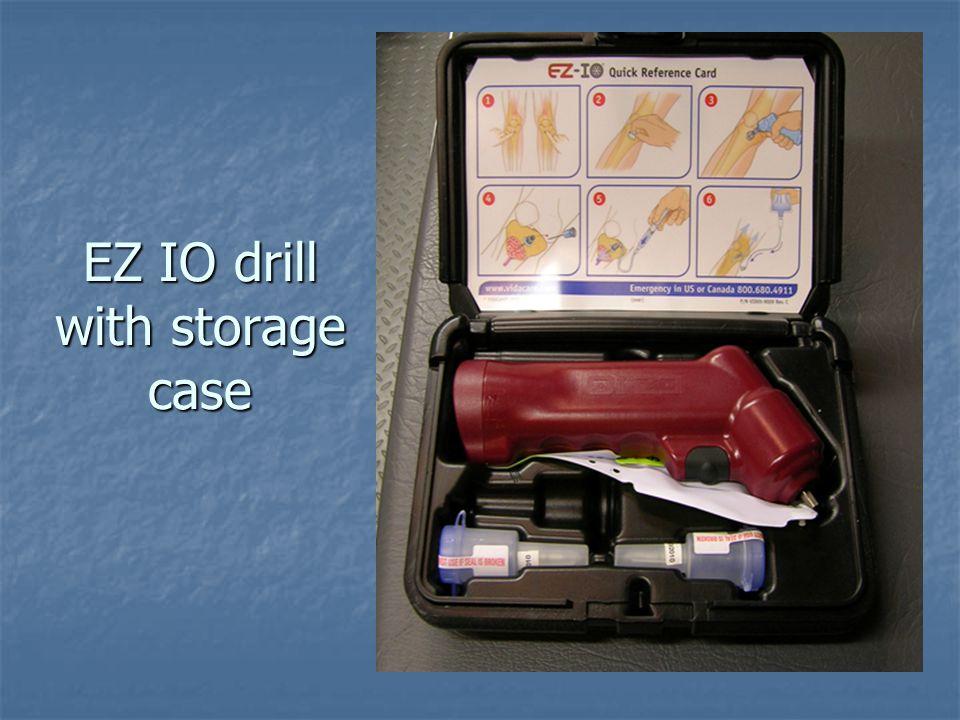 EZ IO drill with storage case