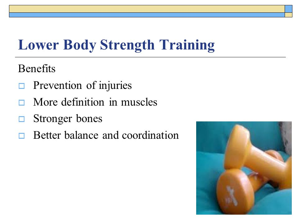 Lower Body Strength Training