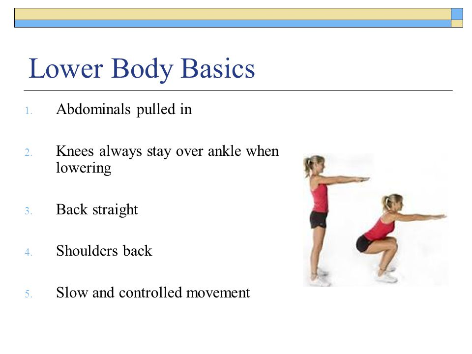 Lower Body Basics Abdominals pulled in