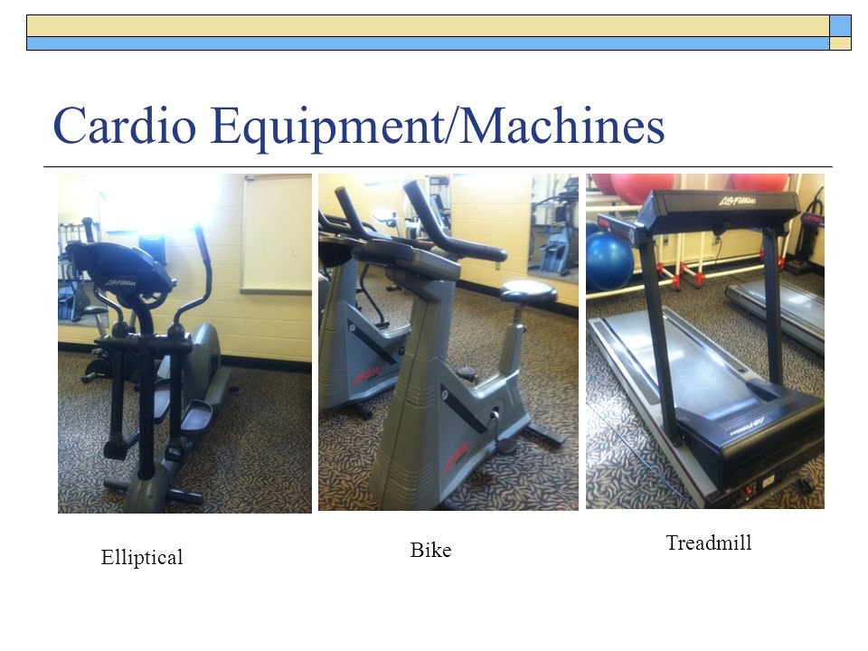 Cardio Equipment/Machines