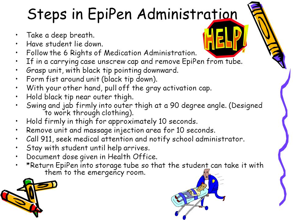 Steps in EpiPen Administration