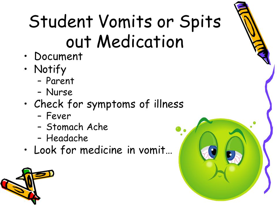 Student Vomits or Spits out Medication