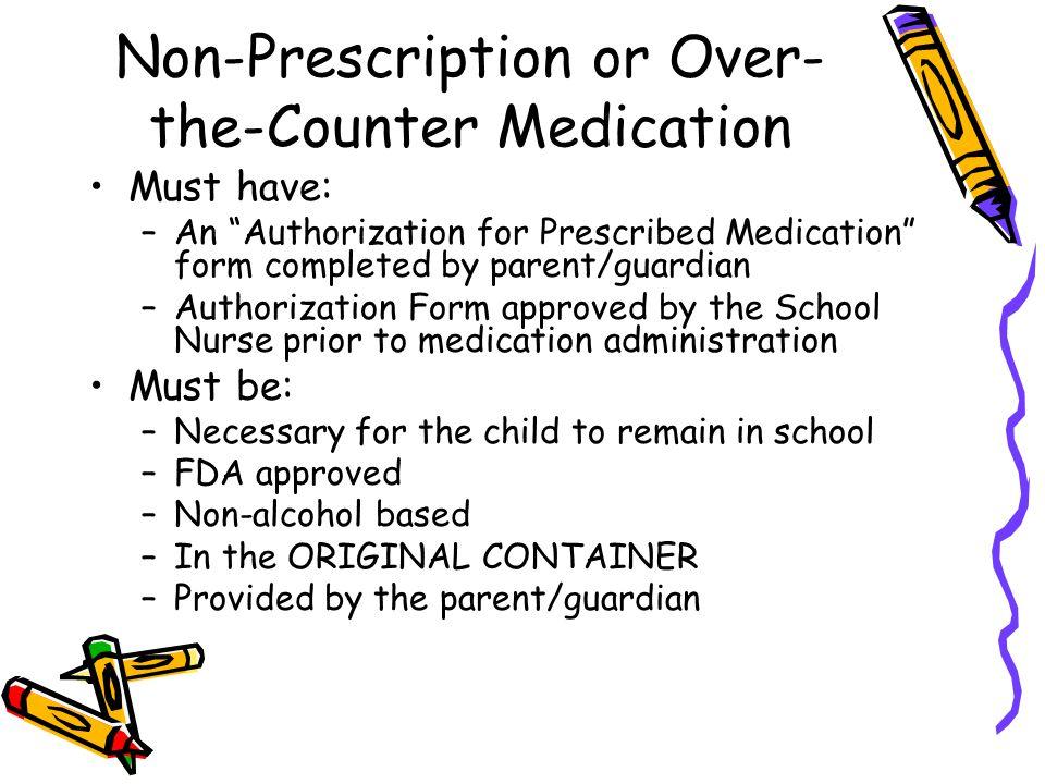 Non-Prescription or Over-the-Counter Medication