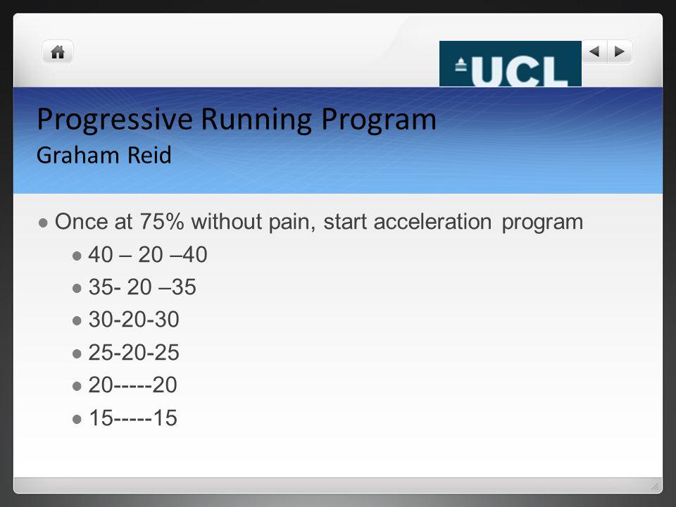 Progressive Running Program Graham Reid