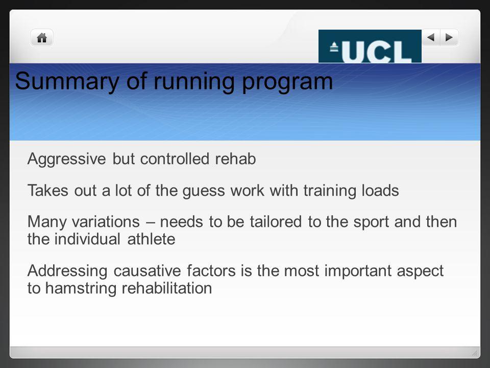 Summary of running program
