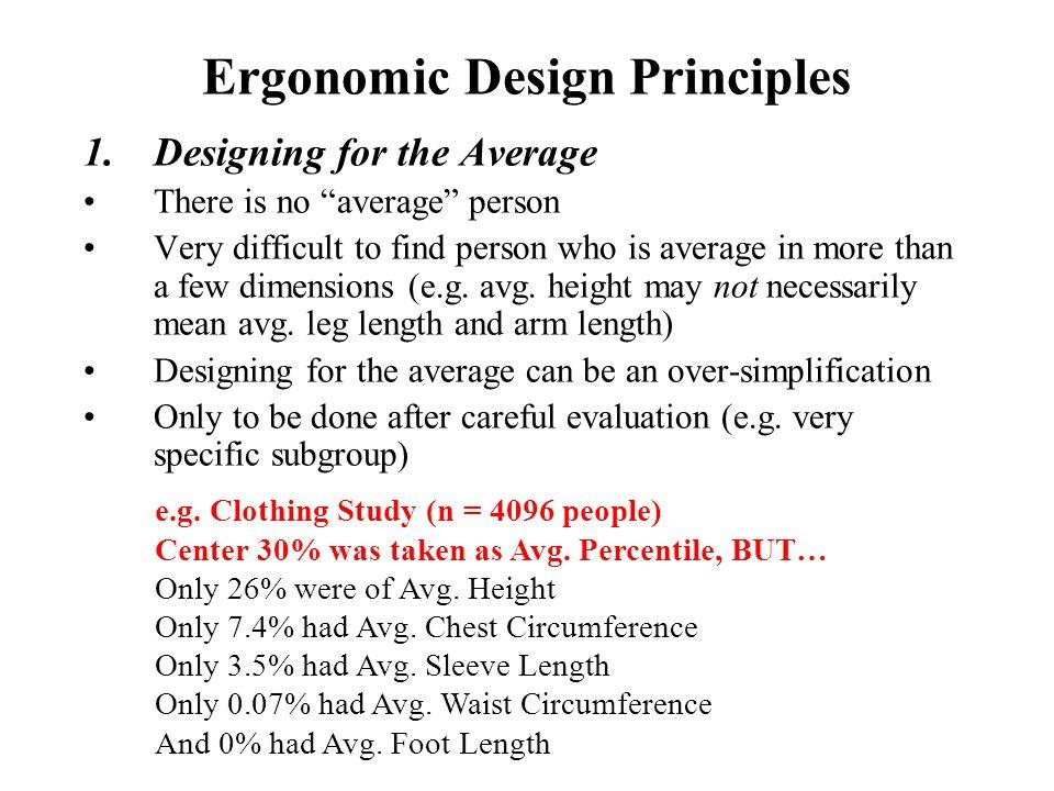 Ergonomic Design Principles