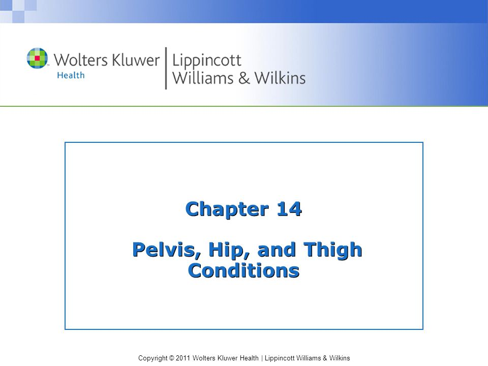 Chapter 14 Pelvis, Hip, and Thigh Conditions