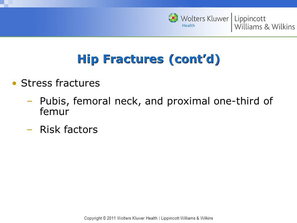 Hip Fractures (cont'd)