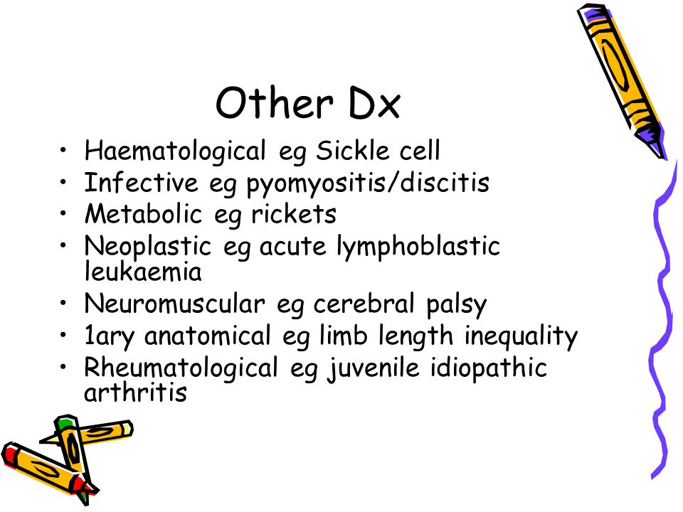Other Dx Haematological eg Sickle cell