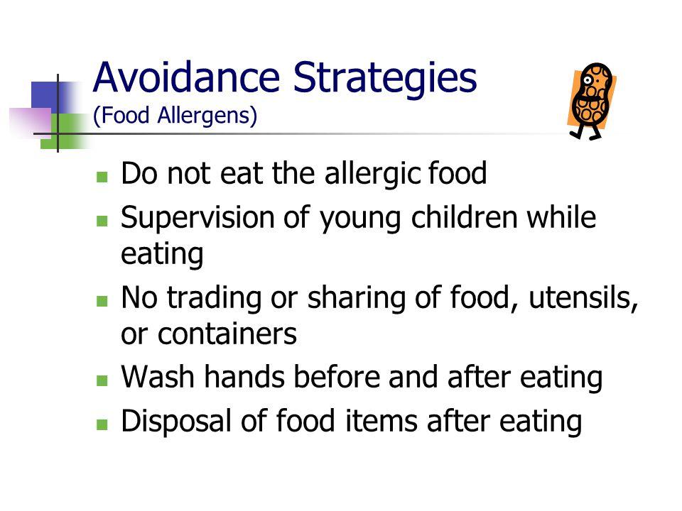 Avoidance Strategies (Food Allergens)