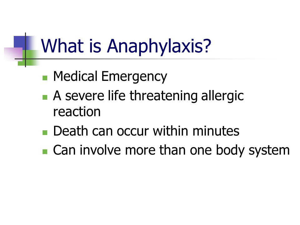 What is Anaphylaxis Medical Emergency