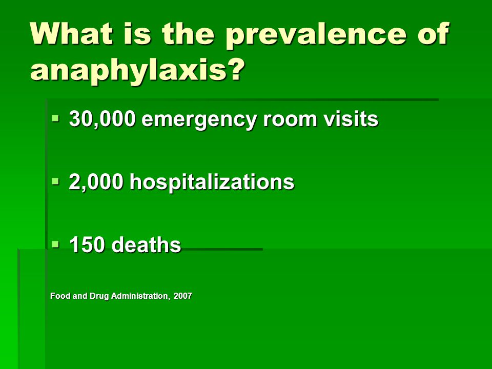 What is the prevalence of anaphylaxis
