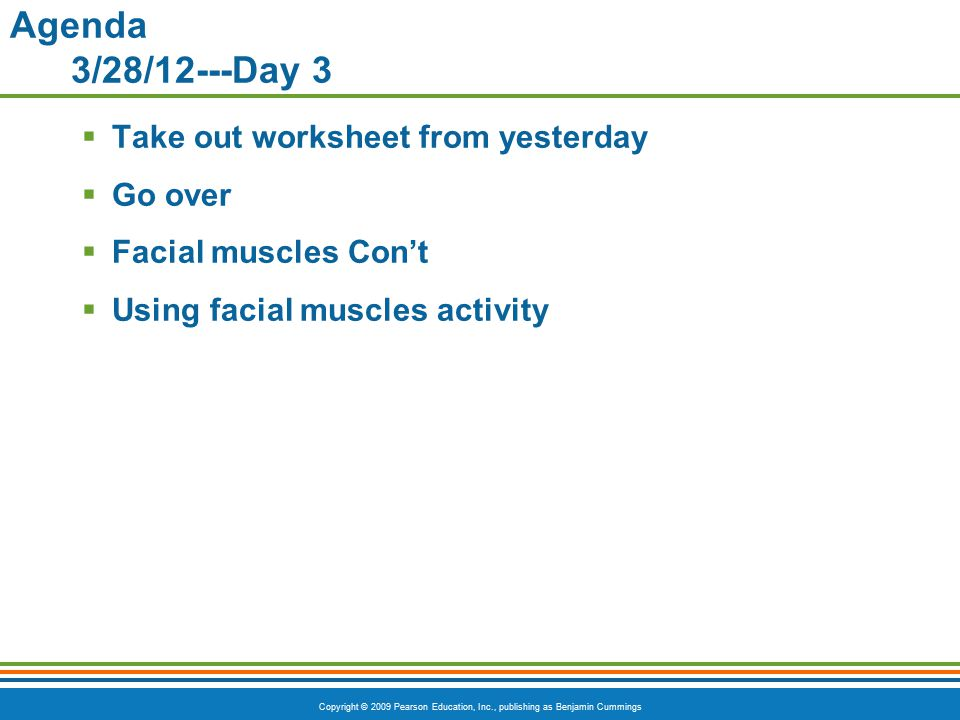 Agenda 3/28/12---Day 3 Take out worksheet from yesterday Go over