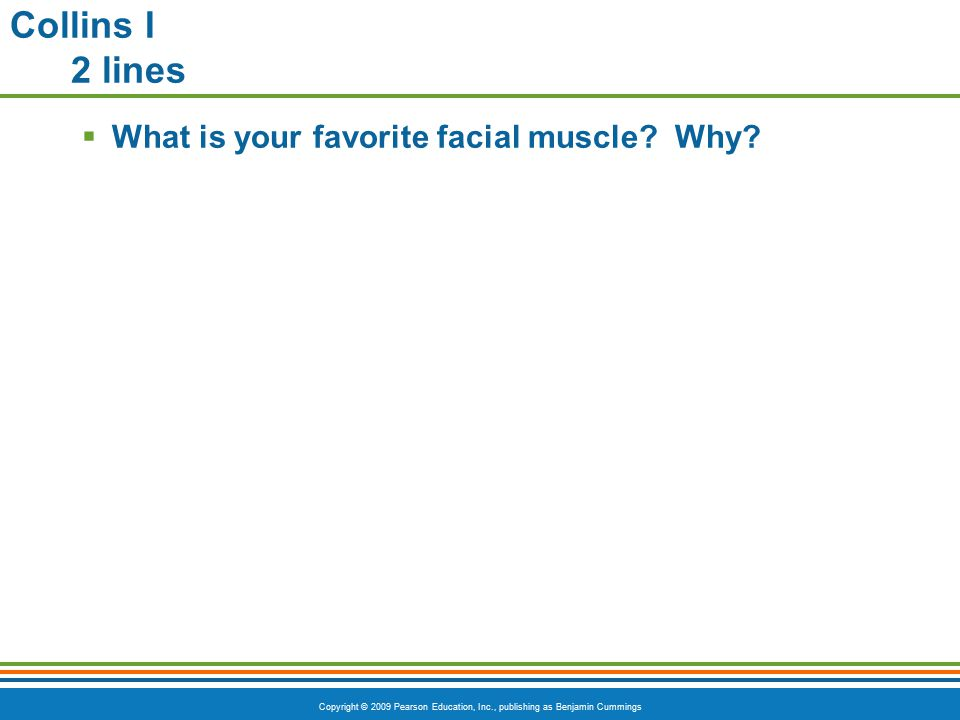 Collins I 2 lines What is your favorite facial muscle Why