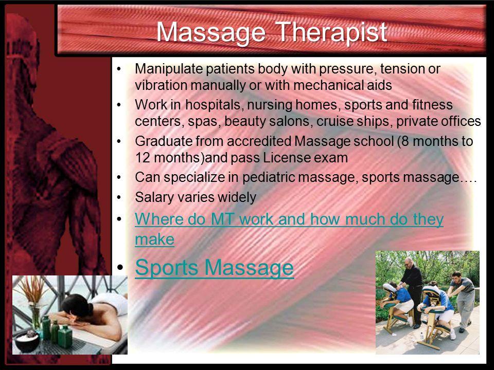 Massage Therapist Sports Massage