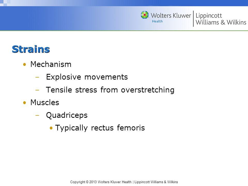 Strains Mechanism Explosive movements
