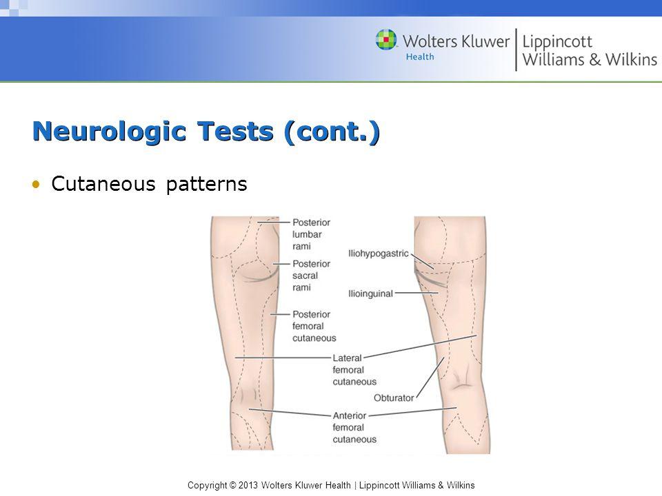 Neurologic Tests (cont.)