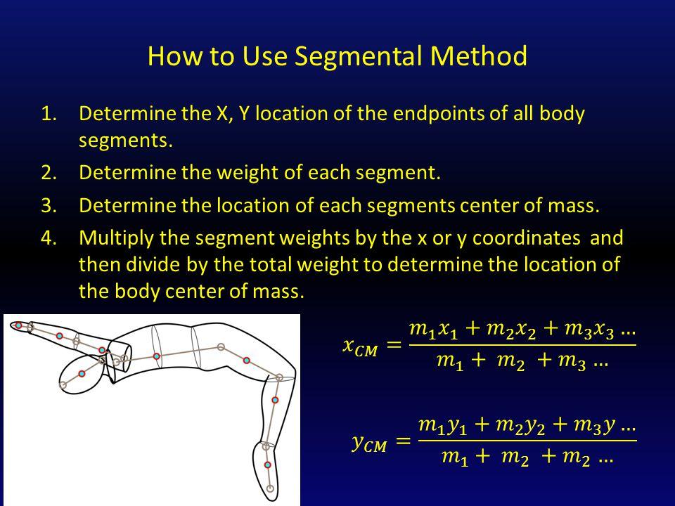 How to Use Segmental Method