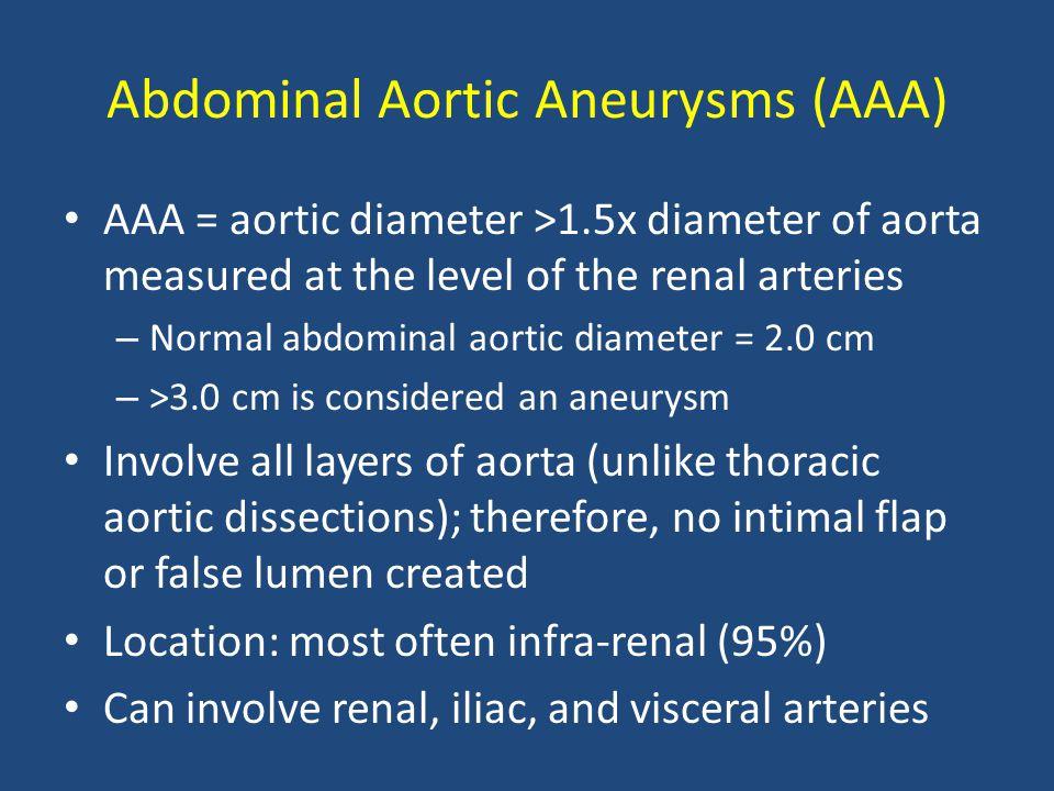 Abdominal Aortic Aneurysms (AAA)