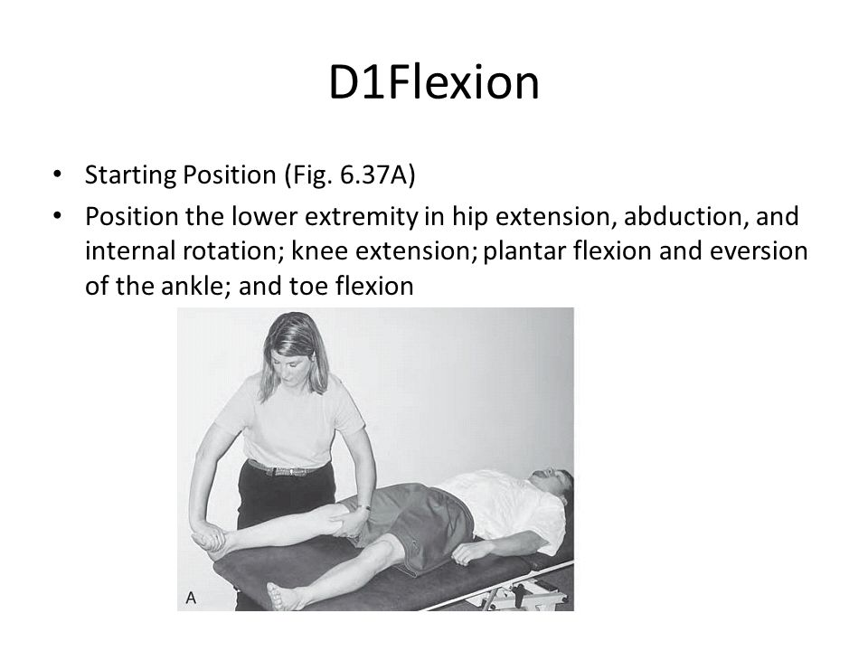 D1Flexion Starting Position (Fig. 6.37A)