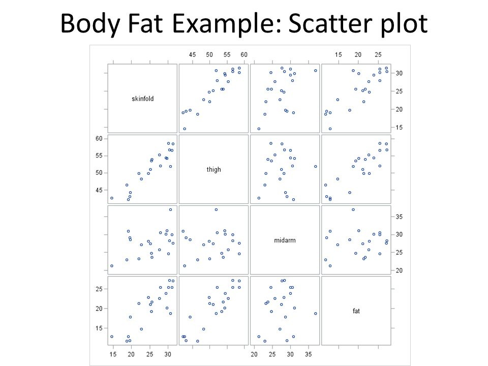 Body Fat Example: Scatter plot