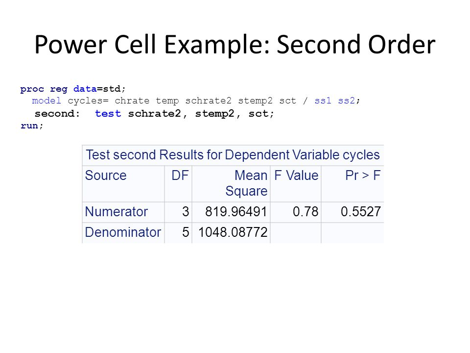 Power Cell Example: Second Order