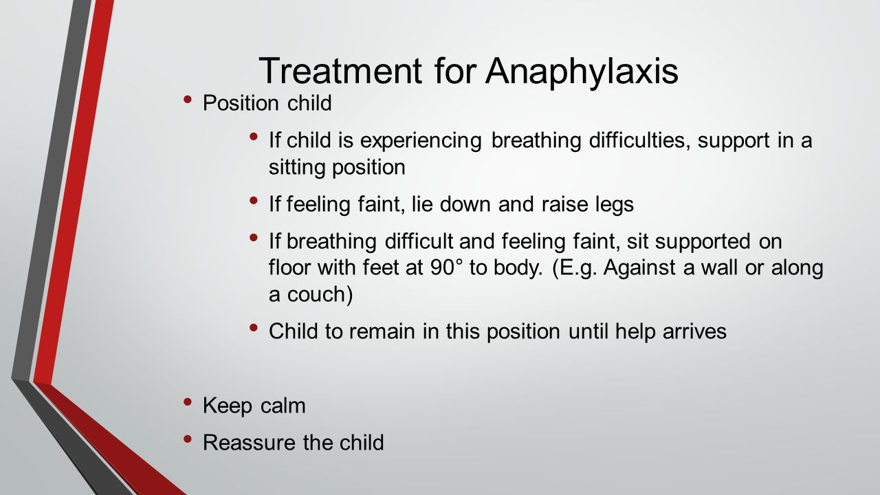 Treatment for Anaphylaxis