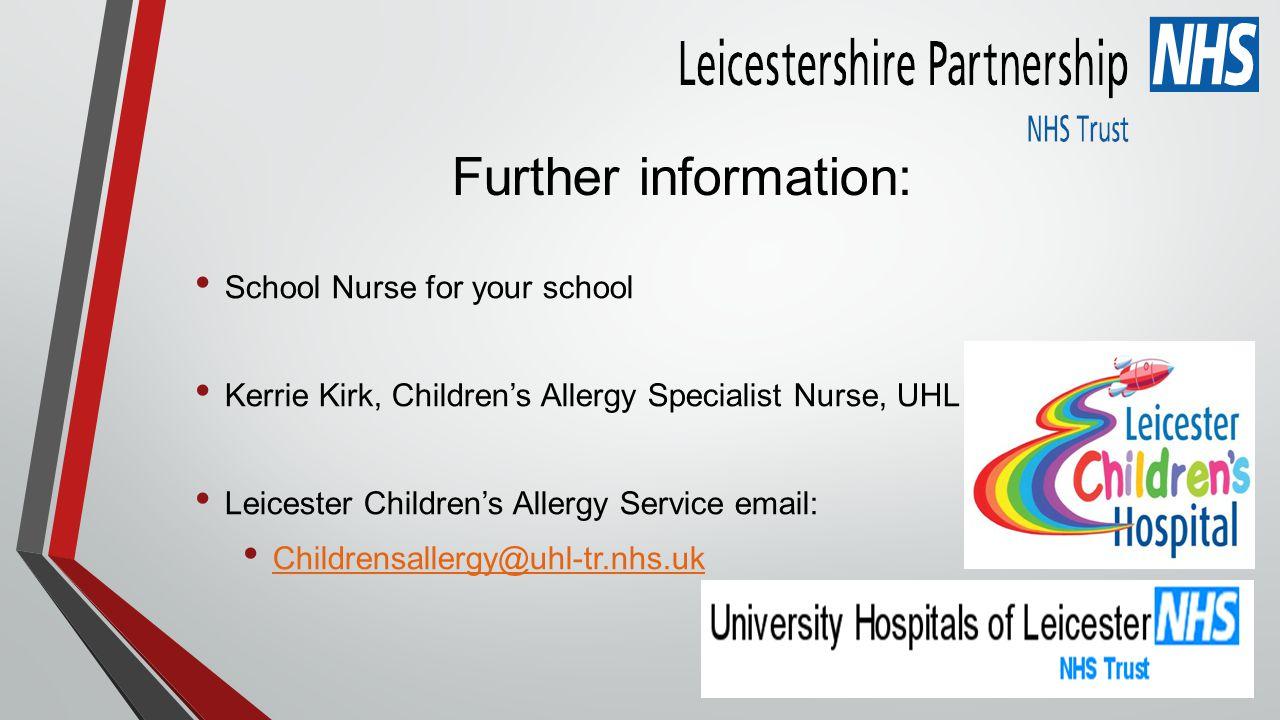 Further information: School Nurse for your school