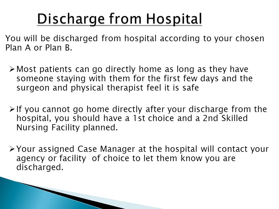 Discharge from Hospital