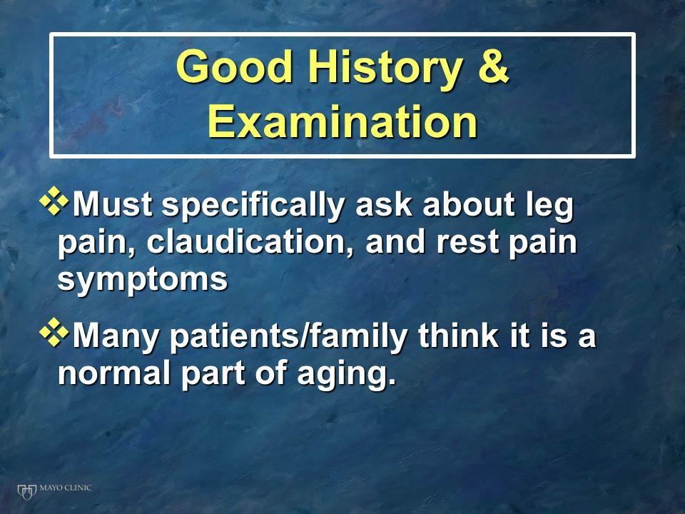 Good History & Examination