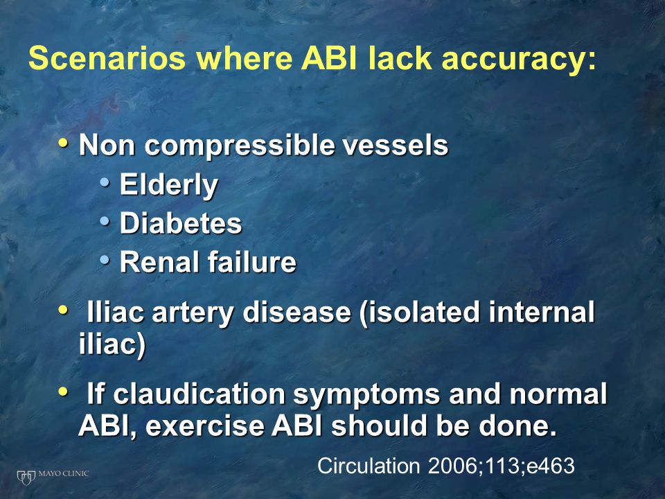 Scenarios where ABI lack accuracy:
