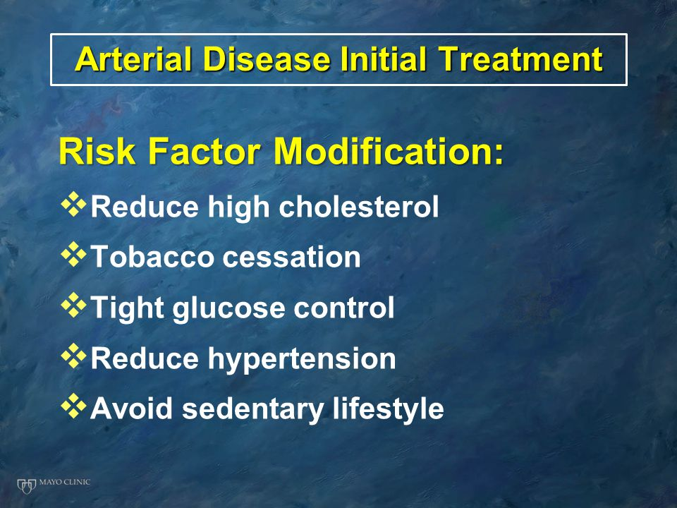 Arterial Disease Initial Treatment