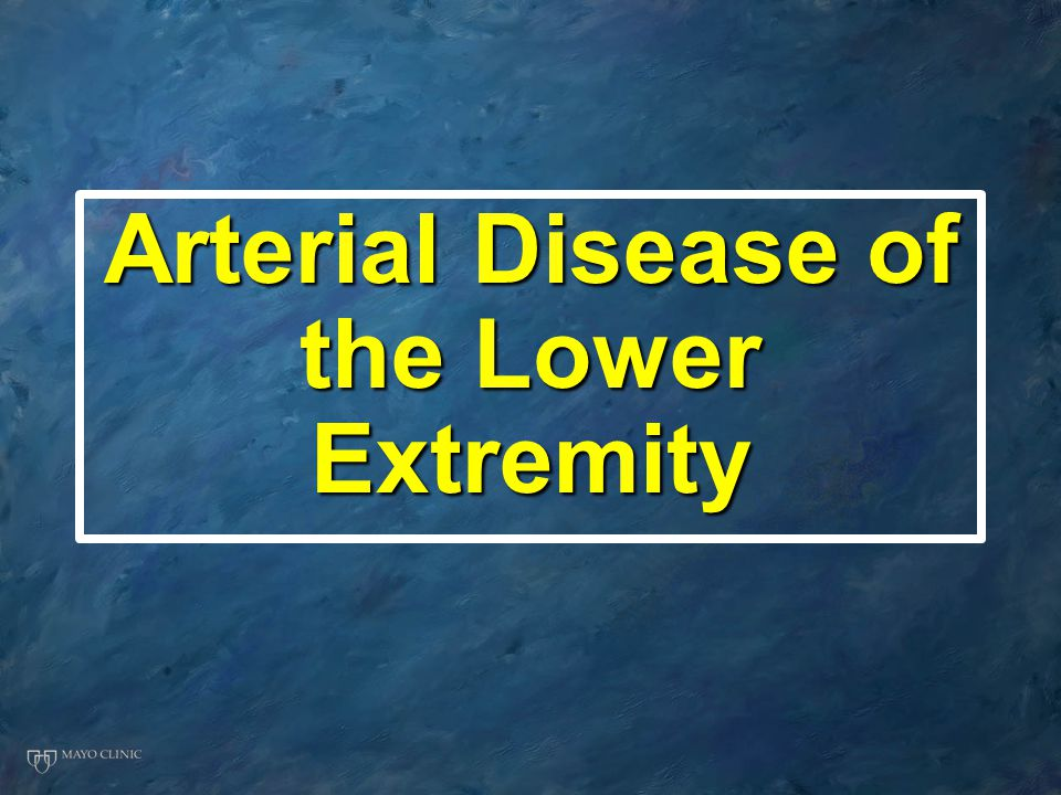 Arterial Disease of the Lower Extremity