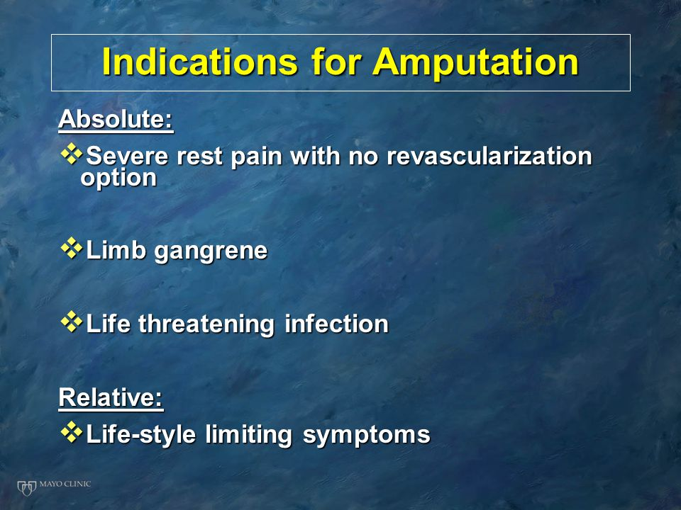 Indications for Amputation