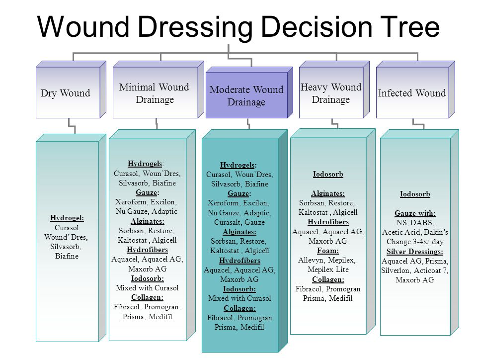 Wound Dressing Decision Tree