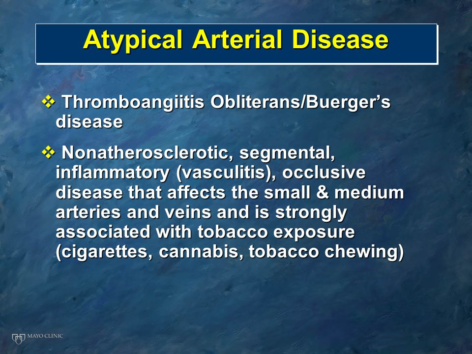 Atypical Arterial Disease