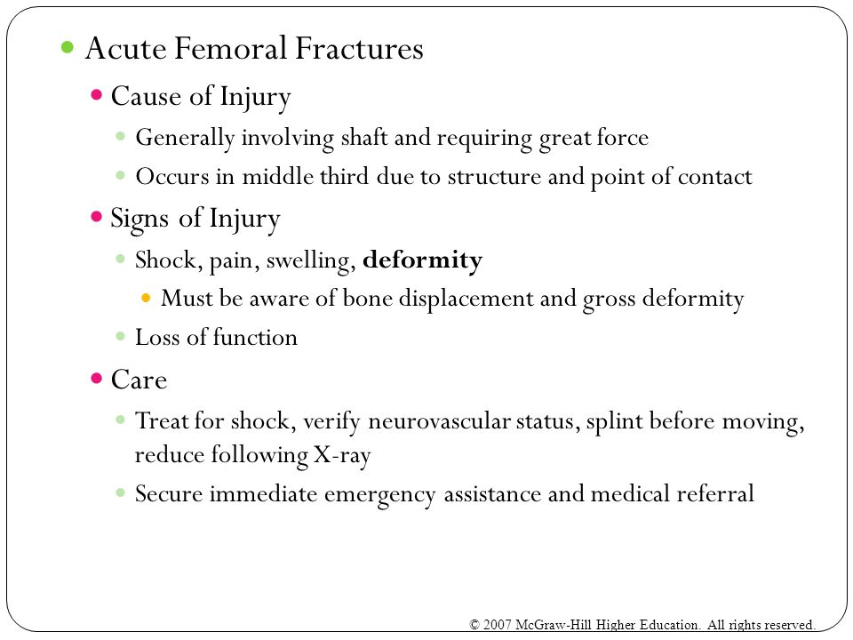 Acute Femoral Fractures