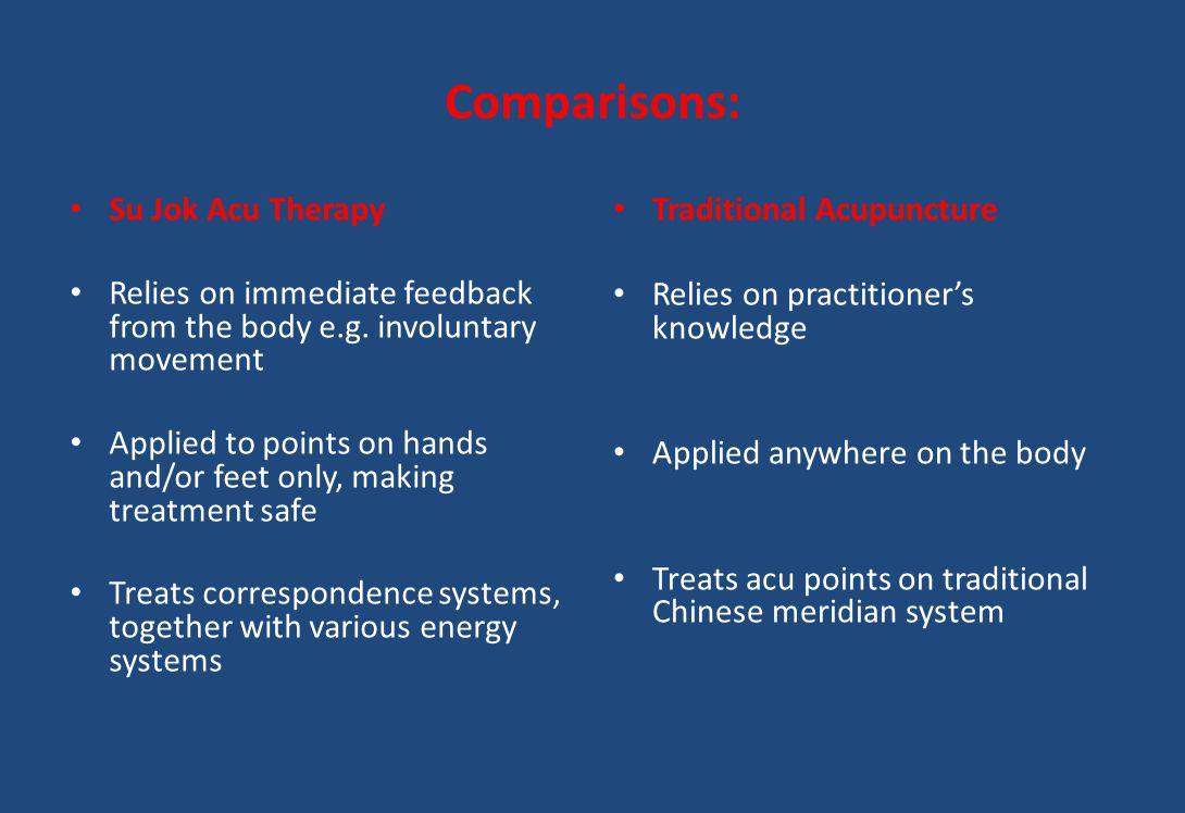 Comparisons: Su Jok Acu Therapy
