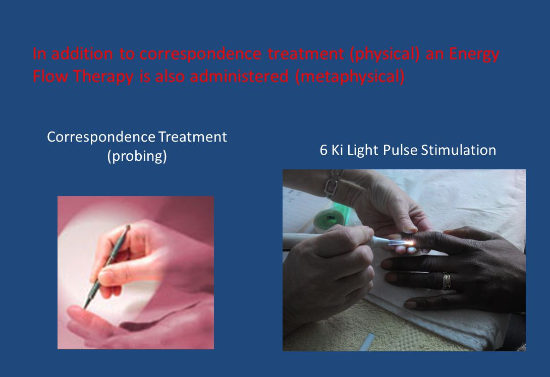 Correspondence Treatment (probing) 6 Ki Light Pulse Stimulation