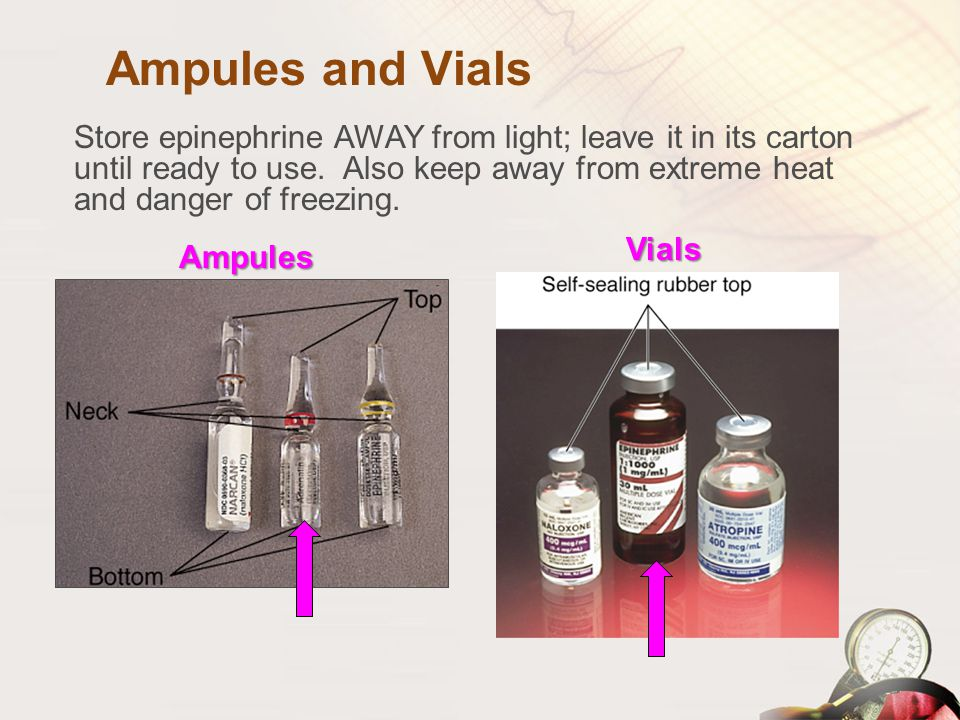 Ampules and Vials