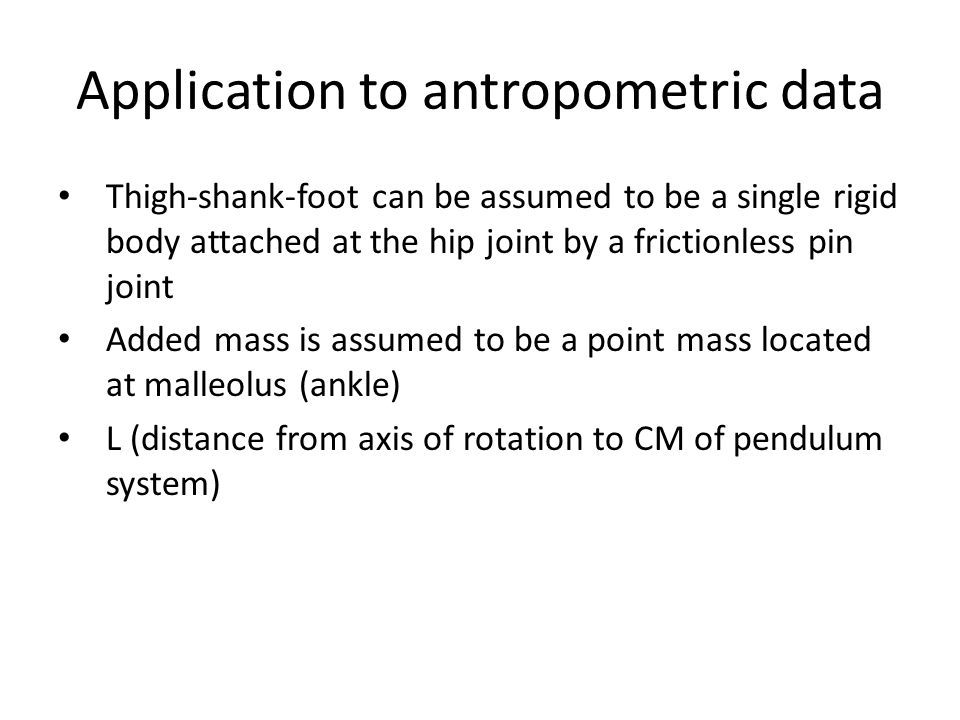 Application to antropometric data